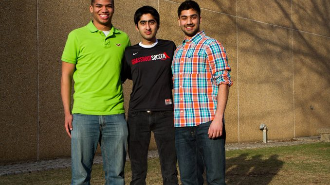 (From left) Chey Jones, Haseeb Goheer and Rohit Batish lead Temple's chapter of the international organization, Grassroot Soccer, which aims to spread HIV/AIDS awareness in the community. | James Leighton TTN