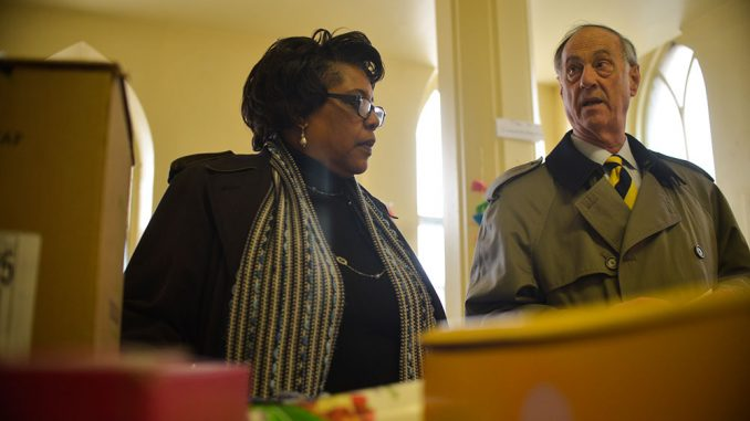 Deborah Marshall (left) coordinates efforts to donate food to Berean Presbyterian Church, something she's done since noticing a lack of available provisions. | ABI REIMOLD TTN