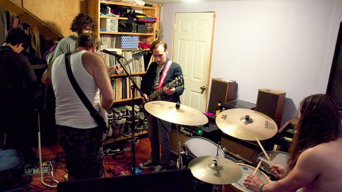 Punk band The Weaks practice for upcoming shows. Right now, the group says its main focus is to finish recording its latest LP. | Kristen Vanleer TTN