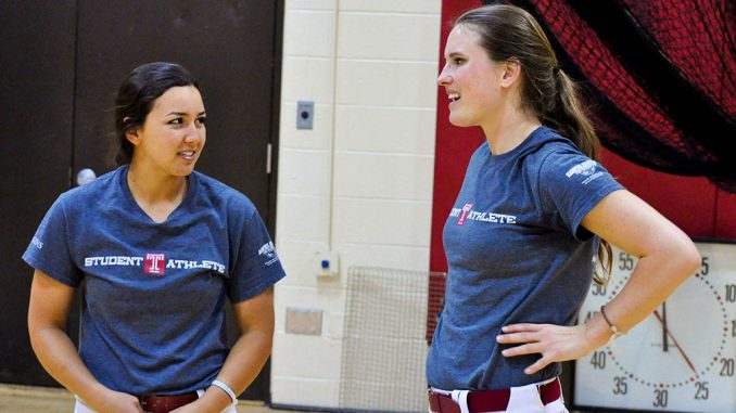Toni Santos (left) was recruited, in part, due to the help of Brooklin White. | Alexandra McDermott TTN