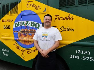 Adriano Redante brings his truck, Braz-BQ, to Main Campus twice a week. He made a deal with Debbie Dasani, another truck owner, to share parking.| Sash Schaeffer TTN