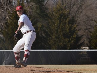 Matt Hockenberry throws against University of Hartford during Temple's 5-4 win on March 15, 2014 in Bear, Delaware. | Andrew Thayer TTN