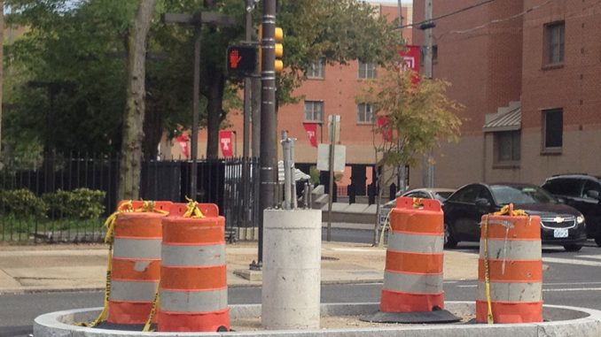 The construction stretches from Spring Garden Street to Glenwood Avenue. Marcus McCarthy | TTN