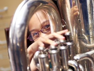Musicopia teaching artist Carrie Lessene has been teaching kids at George G. Meade school and Tanner G. Duckery Elementary for the past eight years. |COURTESY MUSICOPIA