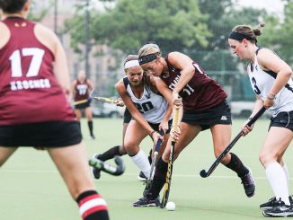 Sophomore forward Katie Foran during a scrimmage against Villanova on Saturday. Foran started 10 games and scored five goals and five assists in 2013. Hua Zong | TTN