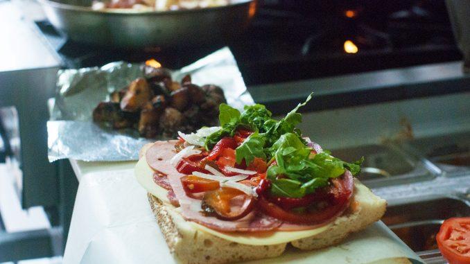 An Italian sandwich sits on the counter of Temple's Best Italian Sandwiches. Allan Barnes | TTN