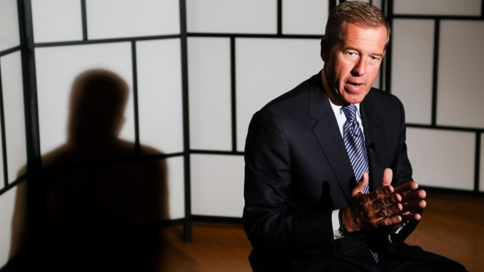 NBC Nightly News anchor Brian Williams speaks to student media during his visit to the university on Sept. 26. Andrew Thayer | TTN