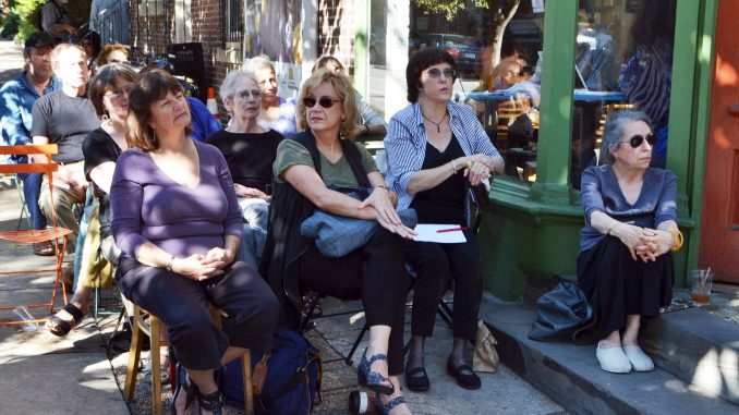 The Green Line Cafe hosted the event where poets read both their own work and something of Denise Levertov's, who was a poet and political activist. Jenny Kerrigan | TTN