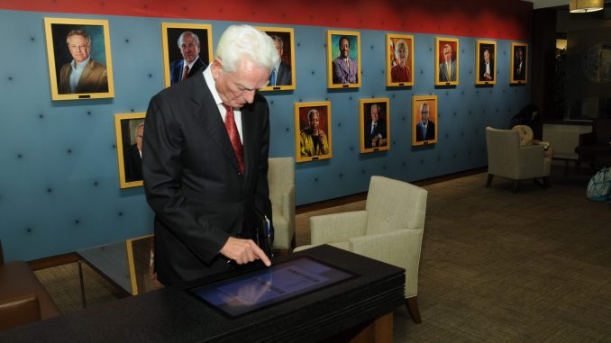 A new commemorative exhibit featuring famous lawyers recently opened in Klein Hall. Courtesy TEMPLE UNIVERSITY