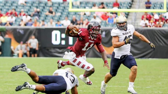 Sophomore quarterback P.J. Walker averaged 8.3 yards per pass on Saturday, which ranked 104th out of 114 Division I quarterbacks. Walker completed 59 percent of his passes. Hua Zong | TTN
