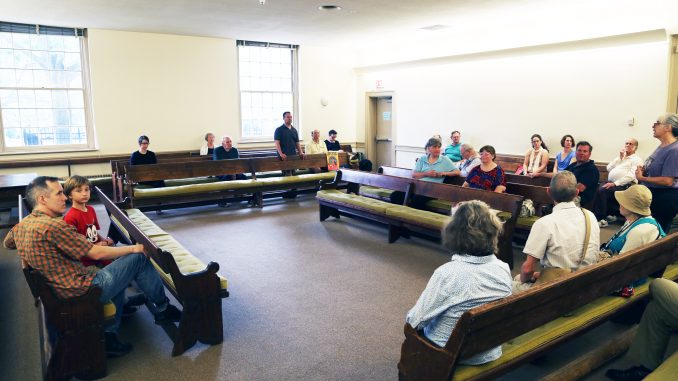 The Arch Street Meeting House, located on 320 Arch St., gives a weekly service for Quakers living in the city. ANDREW THAYER |TTN