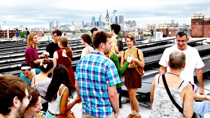 The Solar Party took place on top of the Crane Arts Building in Olde Kensington on August 21. Jared Whalen | TTN