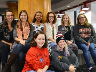 Members of Temple Tappers sit in the Student Center. The tap dance group started in 2011 and is currently recruiting new members. Sash Schaeffer |TTN