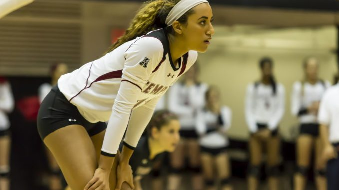 Sophomore Kirsten Overton is currently posting a career high in hitting percentage with 40.9 percent, almost 17 percent higher than the team's average. Donald Otto   TTN