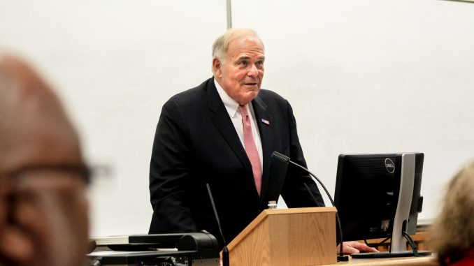 Former Pa. Gov. and Mayor of Philadelphia Ed Rendell spoke in Gladfelter Hall on Nov. 12. Rob Dirienzo | TTN