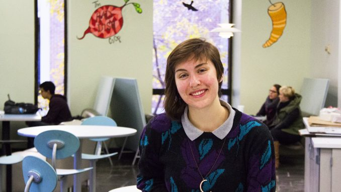 Katy Ament, a member of Green Council, plans the Nov. 19 vegetarian Thanksgiving. Margo Reed | TTN