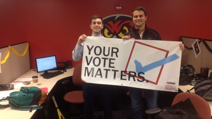 Matt Hayden and Ray Smeriglio have helped lead TSG's 'get out the vote' effort. | COURTESY OF TEMPLE STUDENT GOVERNMENT