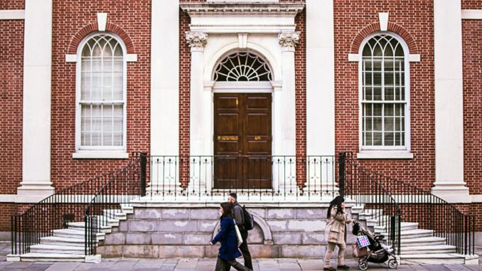 The American Philosophical Society on 104 S. 5th Street was founded by Benjamin Franklin in 1743. Aaron Windhorst | TTN