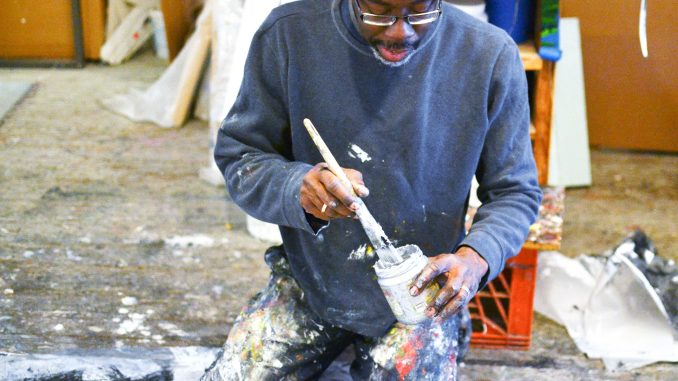 Tim McFarlane is currently working on monochromatic pieces of black, white and silver. Jenny Kerrigan | TTN