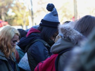 Students and community activists gathered at Founders Circle Jan. 28 to remember Leelah Alcorn, a 17-year-old trans woman who committed suicide a month ago. The event was coordinated by Temple Area Feminist Collective and Temple's Queer Student Union. | JENNY KERRIGAN TTN