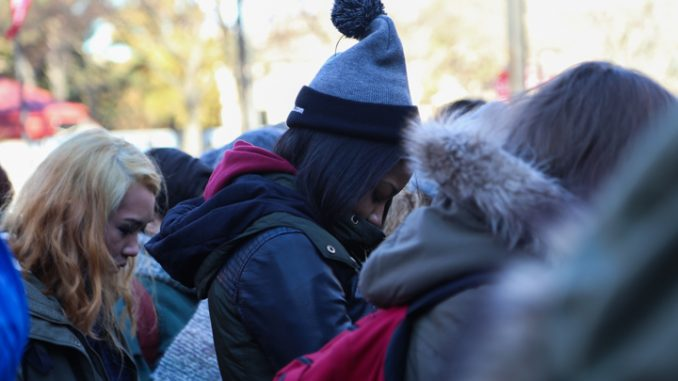 Students and community activists gathered at Founders Circle Jan. 28 to remember Leelah Alcorn, a 17-year-old trans woman who committed suicide a month ago. The event was coordinated by Temple Area Feminist Collective and Temple's Queer Student Union.   JENNY KERRIGAN TTN