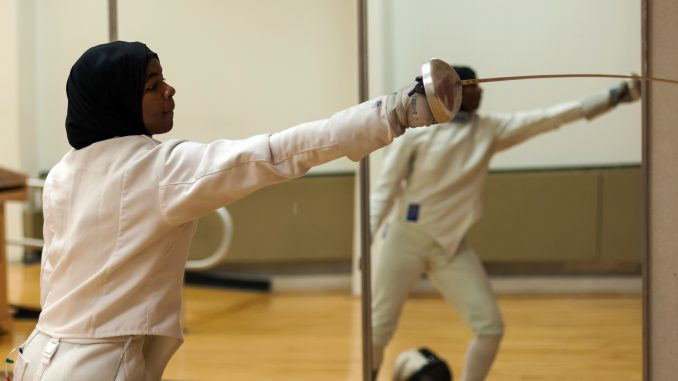 Temple freshman Safa Ibrahim took eighth in the junior women's épée at the January North American Cup. | Donald Otto TTN