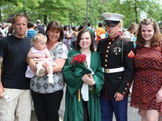Members of Patti Coyne Powell's family attend her daughter Jess Fosburg's high school graduation. | COURTESY Jess Fosburg