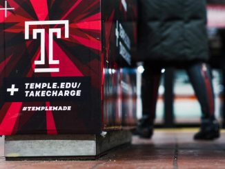 """""""Take Charge"""" advertisements were placed on the turnstiles at the Cecil B. Moore subway station. Bradley Vassallo   TTN"""