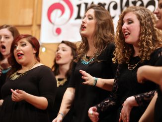 Members of Singchronize perform at a concert held earlier in December. The female singers traveled to the White House to meet President Obama and the First Lady on Dec. 18. Kara Milstein | TTN