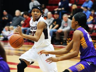 Senior guard Tyonna Williams netted 13 points in her final regular-season home game as an Owl Saturday. | Alex Beaufort TTN