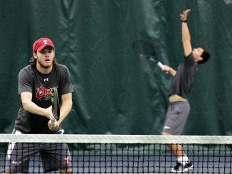 Junior Ian Glessing (left) practices alongside sophomore Filip Stipcic. | Alex Beaufort TTN