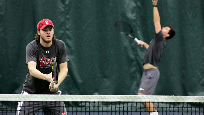 Junior Ian Glessing (left) practices alongside sophomore Filip Stipcic. | Alex Beaufort TTN