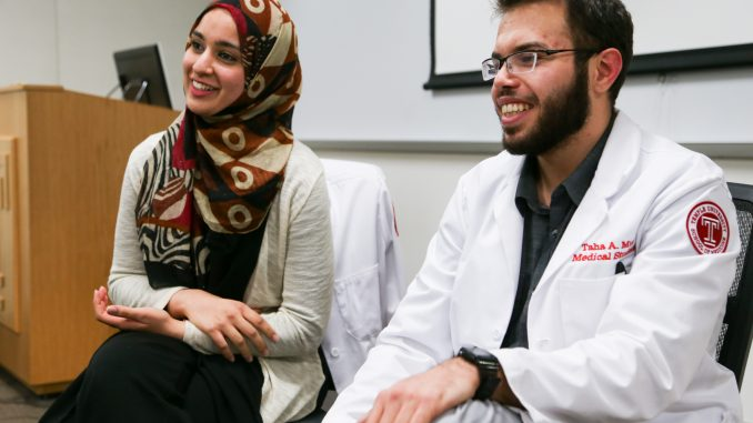 Hamna Zafar (left) and Tasha Mur are active members in the organization Al-Shifaa. | Jenny Kerrigan TTN