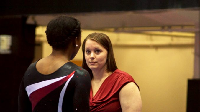 Interim head coach Dierdre Mattocks Bertotti (right) was promoted from her normal position of assistant coach for the team.   Brianna Spause TTN