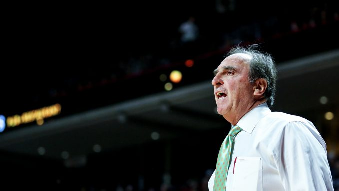 Owls coach Fran Dunphy shouts to his team during the Owls' 40-37 season-opening win against American University on Nov. 14 at the Liacouras Center. | TTN File Photo Hua Zong
