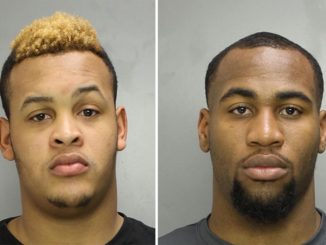 COURTESY PHILADELPHIA POLICE Dion Dawkins (left) and Haason Reddick were arrested March 16.