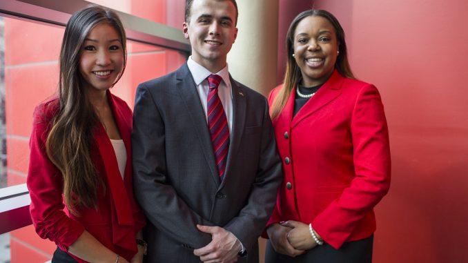 Future TU, from left to right: Binh Nguyen, Ryan Rinaldi and Brittany Boston. | Kara Milstein TTN