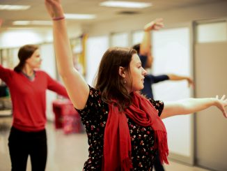 Salsa classes are held weekly on Mondays in the basement of the Tyler School of Art. | Maggie Andresen TTN
