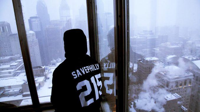 Freshman entrepreneurship major Nick Canonica sits in a high-rise building in Center City, Philadelphia. | COURTESY Nick Canonica
