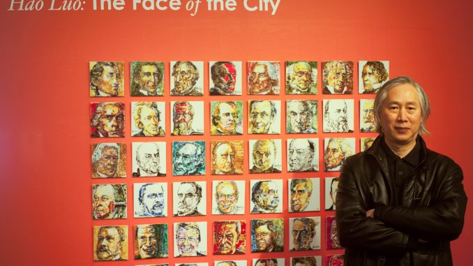 "Chinese artist Hao Luo created portraits of every United States President for his exhibit at The Clay Studio as part of ""The Face of The City"" exhibit. 