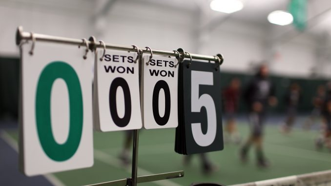 The men's tennis team has utilized different venues around the Delaware Valley throughout its history, and is currently renting out the Legacy Center in East Falls for indoor use during the winter months. | Kara Milstein TTN