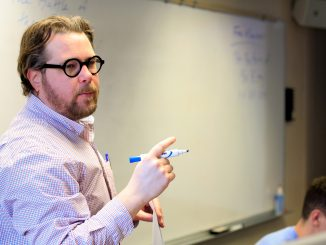Professor Andrew Ervin teaches an alternative English course with a curriculum centered on the work of J.R.R. Tolkien. | Harrison Brink TTN