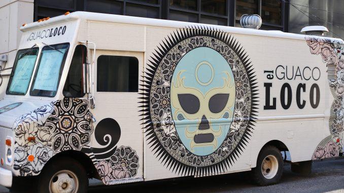 El Guaco Loco is parked on Montgomery Avenue near Broad Street. | Jenny Kerrigan TTN