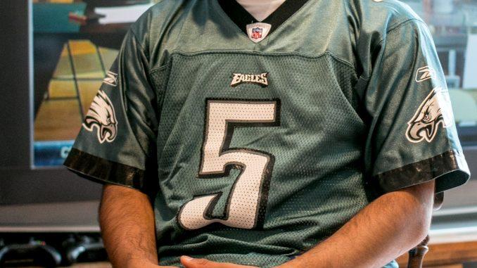 Pratik Patel, a senior business major is a lifelong Eagles fan. | JD Mousley