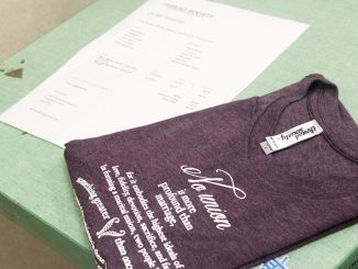 Thread Society gives back to the local community with donated shirts. | Emily Scott TTN