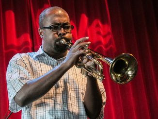 Marcell Bellinger plays the trumpet for World Cafe Live. Bellinger also works as a jazz teacher, mentoring young trumpet players. | JD Mousley TTN