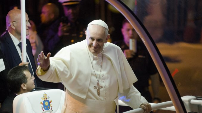 Pope Francis waves to the crowd during his visit to Philadelphia this past weekend. | Jenny Kerrigan TTN