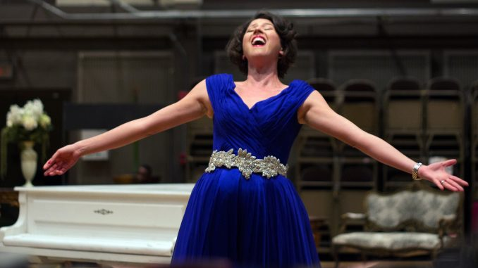 "Lisette Oropesa performs during a rehearsal for ""La traviata"" at Academy of Music Sept. 21. 