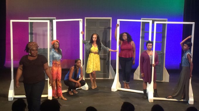 """The play """"for colored girls who have considered suicide/when the rainbow is enuf"""" is about seven nameless women of color and their daily struggles within society. 
