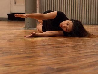 Ayako Kataoka performs during the NowHere Festival of Free Improvisation in Sound & Movement Oct. 23. | Daniel Rainville TTN
